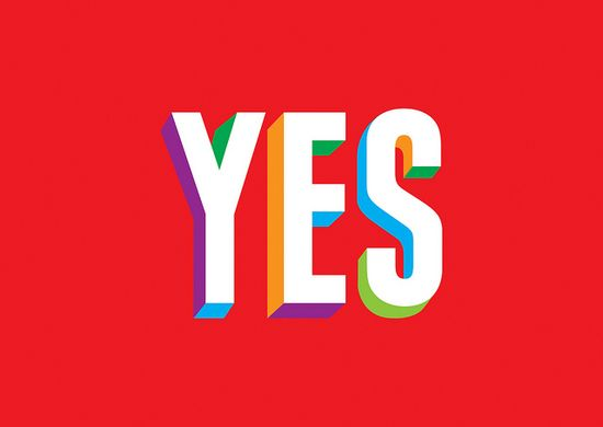 YES by GRAPHICS DESIGNED, via Flickr