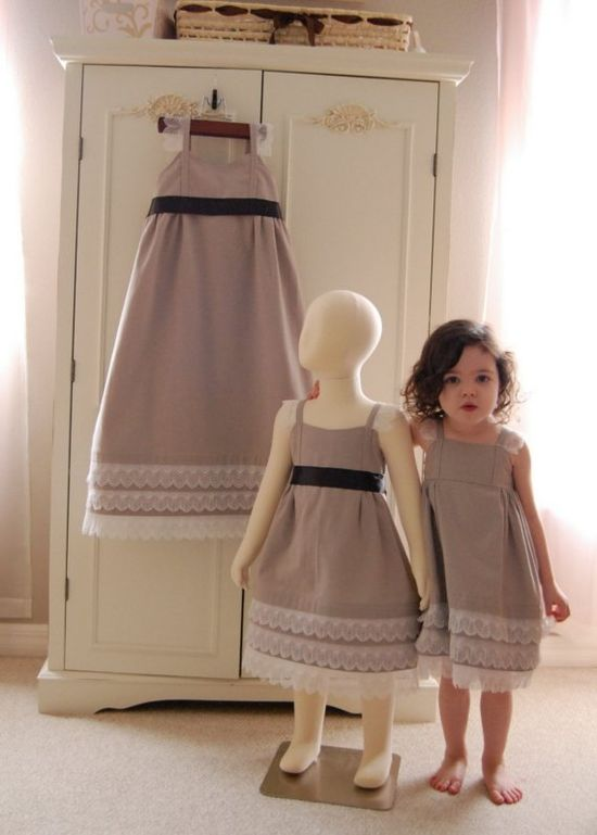 Love this photo. Cute dresses and little girl.