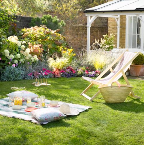 Backyard picnic.