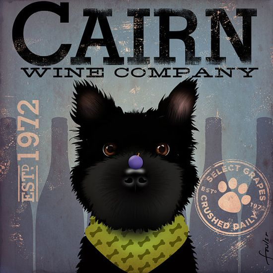 Cairn Terrier Winery company original graphic by geministudio, $79.00