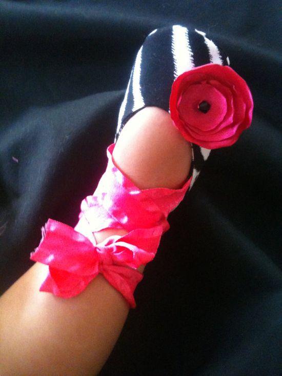Ballerina Zebra Themed Baby Girls Shoes $16 #zebra #ballet #etsy
