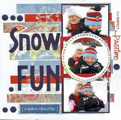 Snow scrapbook layout