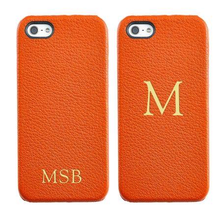 leather monogram iPhone case