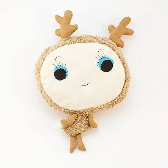 .Woodland deer plush by Vibys on Etsy.