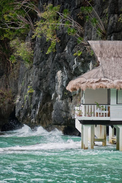 Over the Ocean Cottage, Palawan, The Philippines photo via aaron