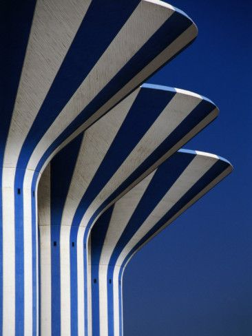 Blue and white stripes, simplicity.