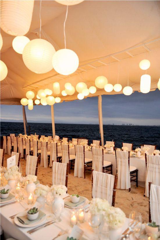 Reception: gorgeous destination wedding on the beach