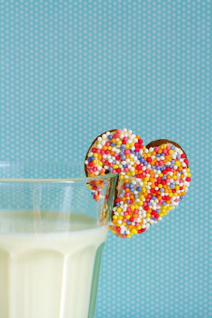 Sprinkle Heart Cookies- pretty much the cutest cookies ever!