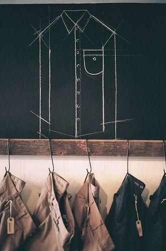 Chalkboard Shirt Construction Detail // Retail Display