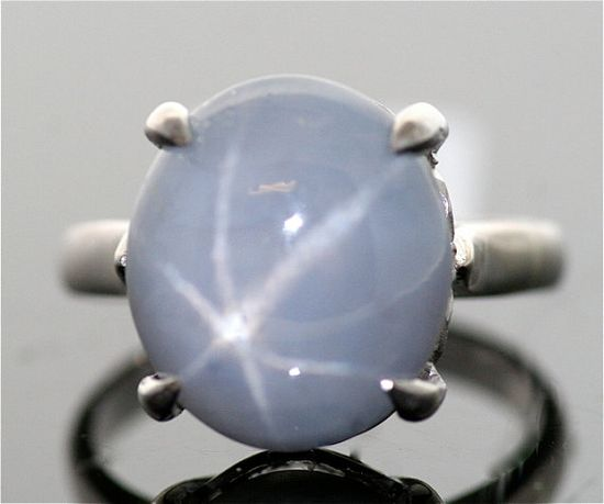 Antique Star Sapphire  Blue Gray Star Sapphire by SITFineJewelry, $2800.00