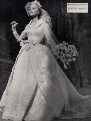 1953 Jacques Fath wedding dress