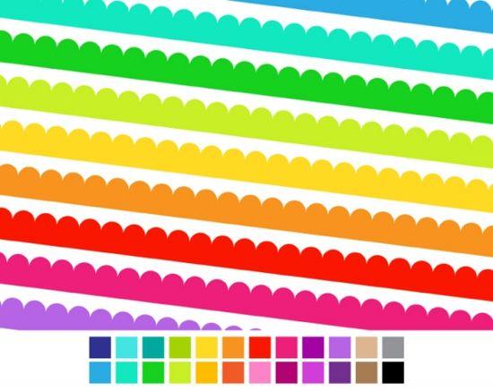 Scalloped Digital Ribbons - Luvly Marketplace