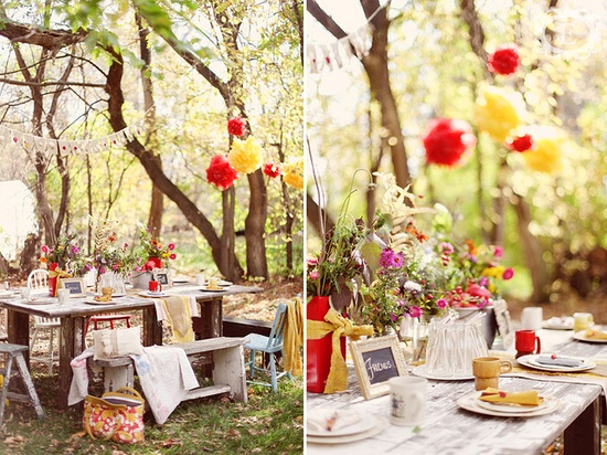 a summer party in the woods? yes, please... from Eden Photography