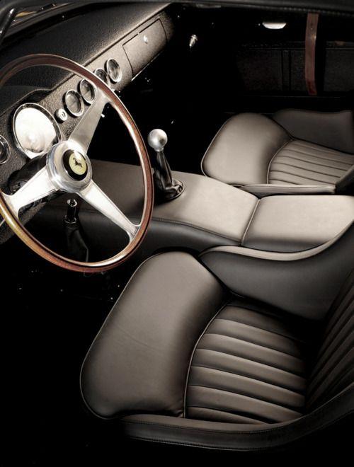 Interior of a 1961 Ferrari 250 GT SWB Berlinetta