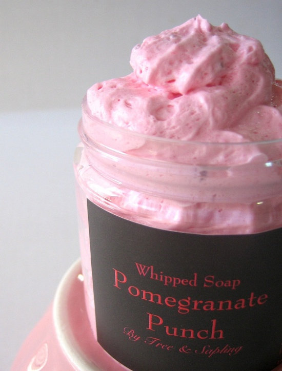 NEW. Pomegranate Punch Whipped Soap, 4 oz.. $6.25, via Etsy. Every whipped soap from Tree & Sap DIY brand is glorious!