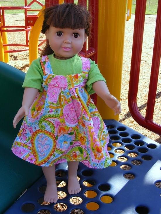 American Girl Doll Dress in my Etsy Shop. #Etsy, #AmericanGirl #doll #dollclothes #handmade $14