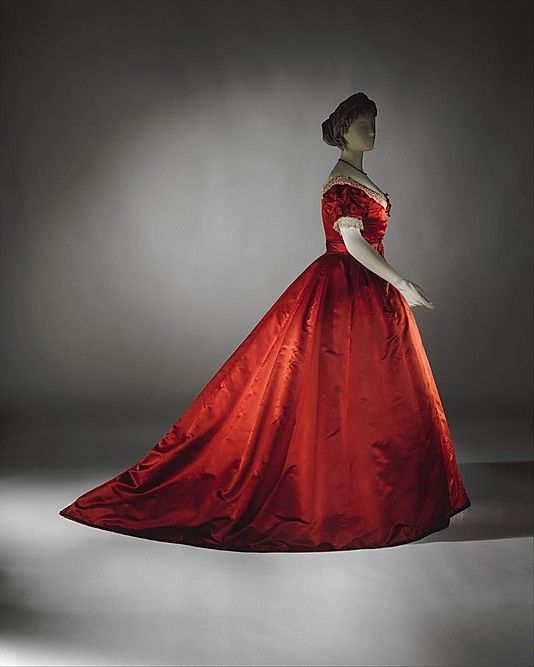 """Dress. """"Visiting"""". 1865-68. British. Silk [this is an evening/ball bodice]"""