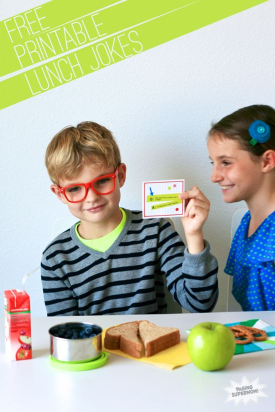 Free Printable Lunchbox Funnies- a great way to send them back to school (with jokes)