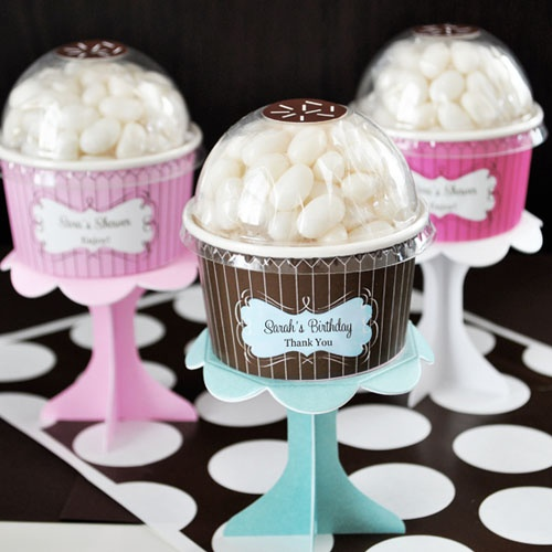 Personalized Birthday Cupcake Candy Favor by Beau-coup