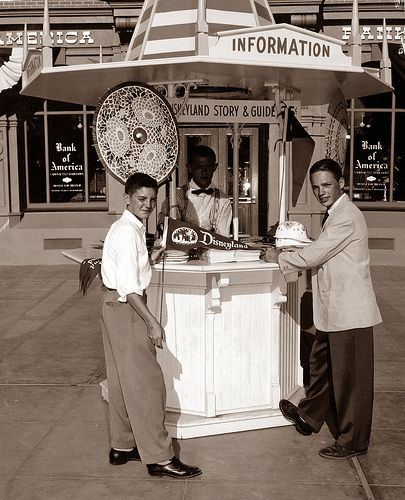 Information Booth 1950s