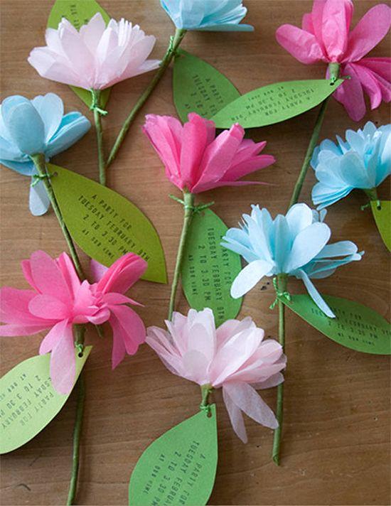DIY Flower Invitations