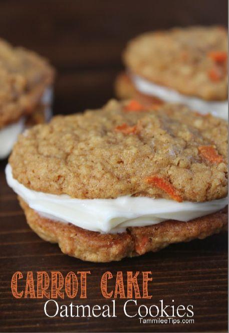 Carrot Cake Oatmeal Cookies Recipe- Yum!