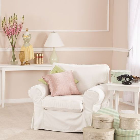 I had a pink living room once.