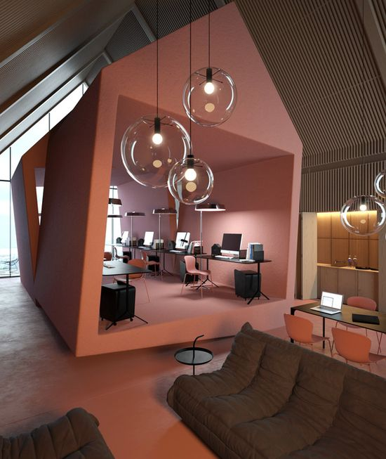 """""""Attic"""" Office by Vasily Butenko #office #buero"""