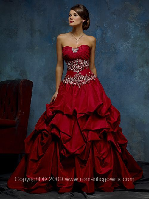 red wedding dress.....