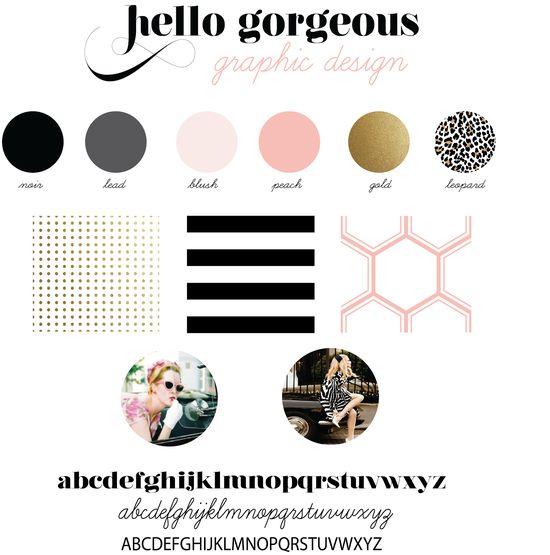Feminine Identity Branding by Hello Gorgeous. Mood board