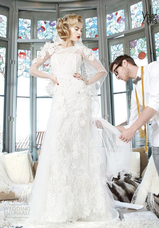 yolan cris couture bridal 2013 sumatra wedding dress