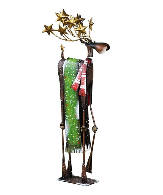 Holiday Reindeer Statue