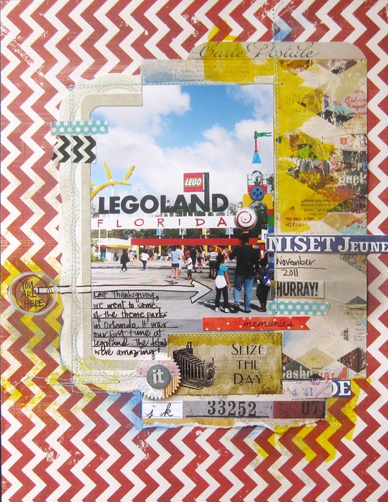 Sieze the Day! - Scrapbook.com......I need to do this with our legoland pictures.