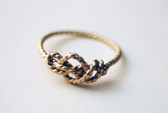 14k Gold Filled Handformed Sailor's Love Knot ring by NestedYellow, $90.00