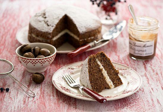Celebrating one of winter's finest flavours: Chestnut Cake. #cake #chestnut #food #baking #dessert