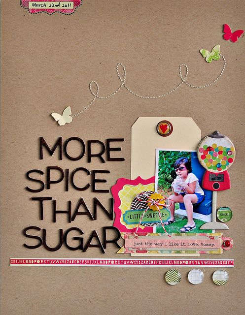 #papercraft #scrapbook #layout Another cute layout...love it!!! love the title