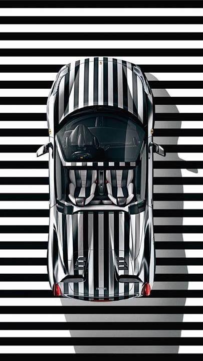 Black + White Sports Car