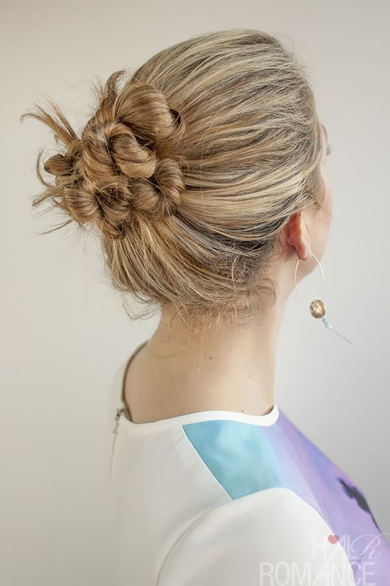30 Buns in 30 Days - Day 19 - Twist and Pin Bun Hairstyle