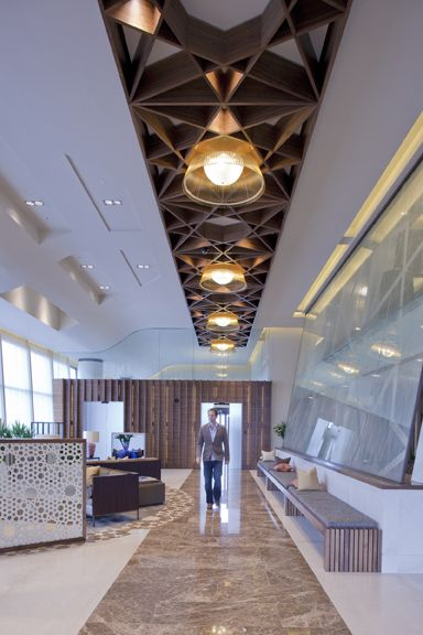 Commercial Design : Luxury Airport Lounge by SHH ... The ceiling design is cool. K