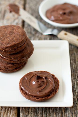 Mocha Shortbread with Nutella