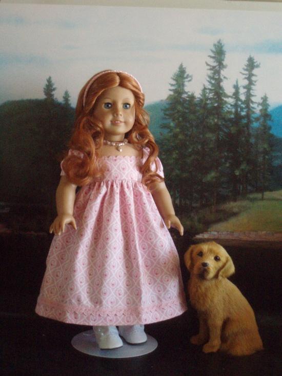 Regency Dress via Etsy using Thimbles and Acorns pattern