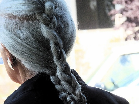 This is going to be me in grey braids