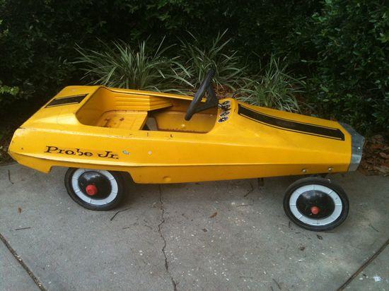 Rare vintage child's riding pedal car 1970's
