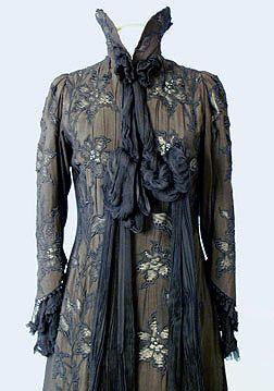 1898 Black Art Nouveau coat