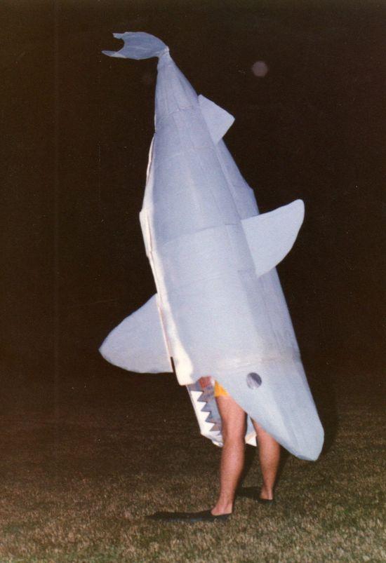 cardboard shark costume