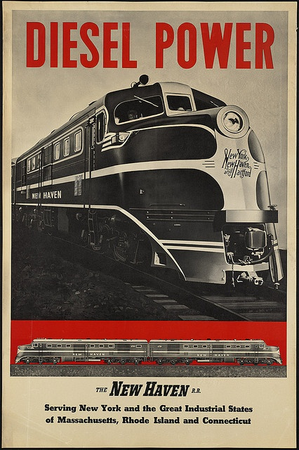 New Haven Diesel Poster.