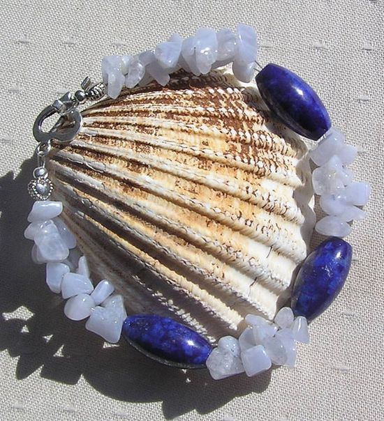 Lapis Lazuli & Blue Lace Agate Crystal Gemstone by SunnyCrystals, £10.00
