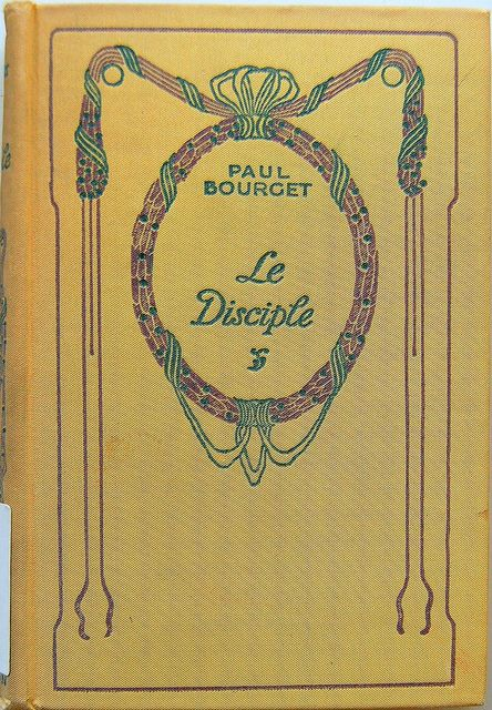 Book Cover of Le Disciple by Paul Bourget 1932 by Crossett Library Bennington College, via Flickr