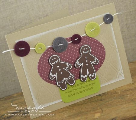 Gingerbread Friends Card by Nichole Heady for Papertrey Ink (September 2012)