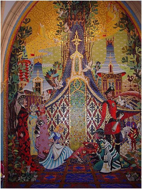 Mosaic inside Cinderella's Castle